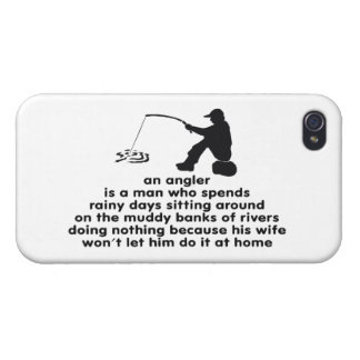 Humorous Fishing Cases For iPhone 4