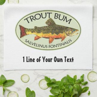 Humorous Fishing Hand Towel