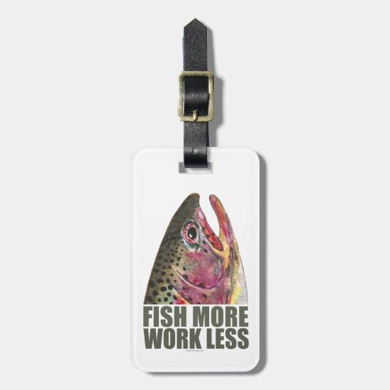 Humorous Fishing Luggage Tag