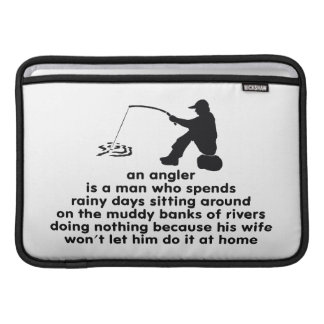 Humorous Fishing MacBook Air Sleeve