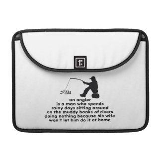 Humorous Fishing MacBook Pro Sleeves