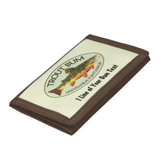 Humorous Fishing Trifold Wallets