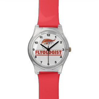 Humorous Fly Fishing Wrist Watches