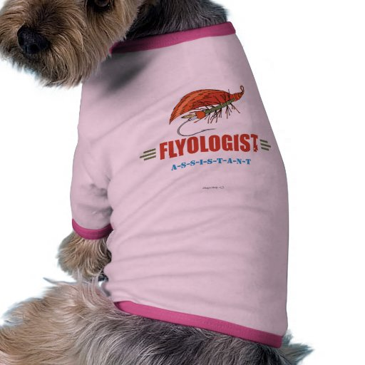 Humorous Fly Tying, Fly Fishing Pet Tee