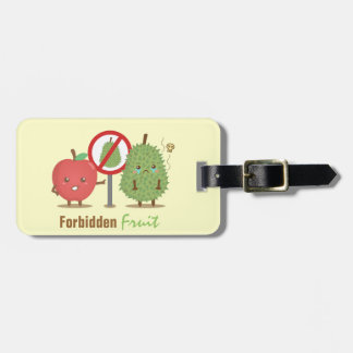 Humorous, Forbidden Fruit, Apple and Durian Luggage Tag