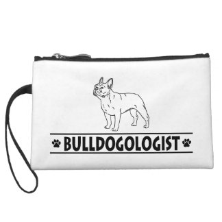 Humorous French Bulldog Wristlet Wallet