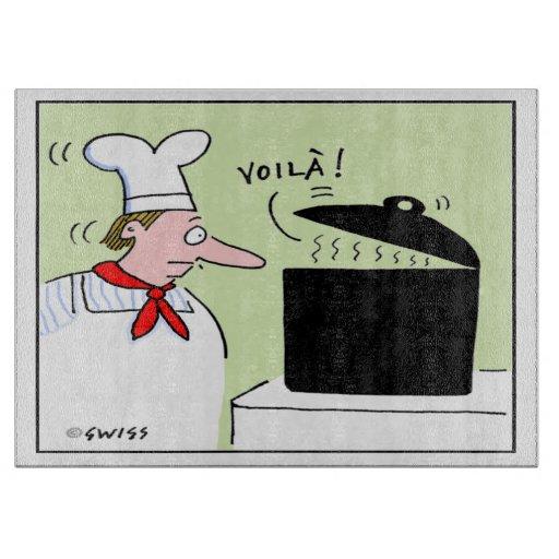 Humorous French Cuisine Cutting Board