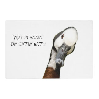 Humorous Geese Place Mat Laminated Placemat