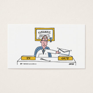 Humorous General Surgeon Cartoon Appointment or Business Card