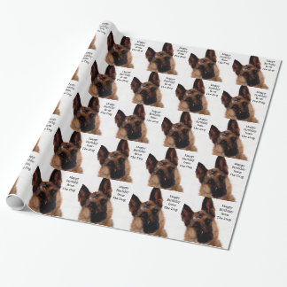 Humorous German Shepherd Wrapping Paper