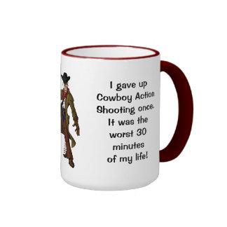 Humorous Giving Up Shooting Coffee Mug
