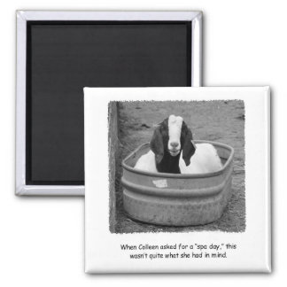 Humorous Goat Spa Day Magnet