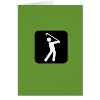 Humorous Golfing Card