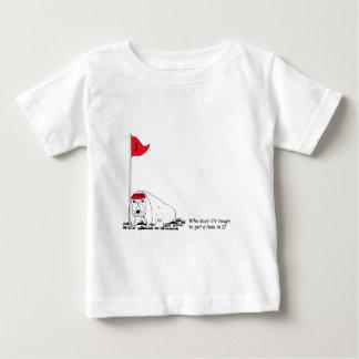 Humorous Golfing Dog Baby T-Shirt