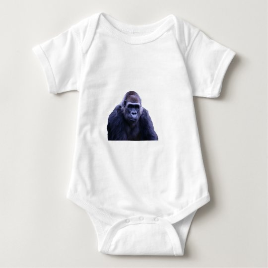 humorous gorilla products baby bodysuit