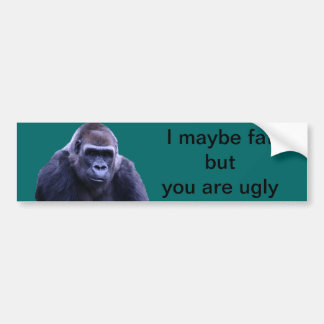 humorous gorilla products bumper sticker