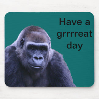 humorous gorilla products mouse pad