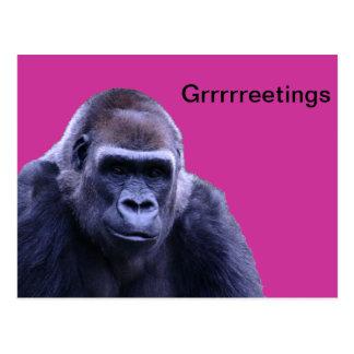 humorous gorilla products postcards