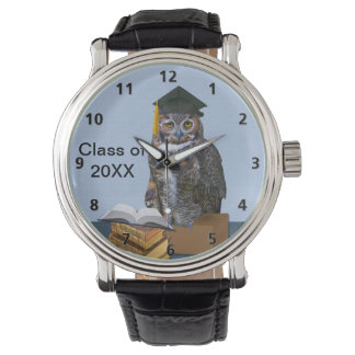 Humorous Graduation Owl Watch