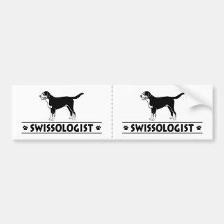 Humorous Greater Swiss Mountain Dog Bumper Sticker
