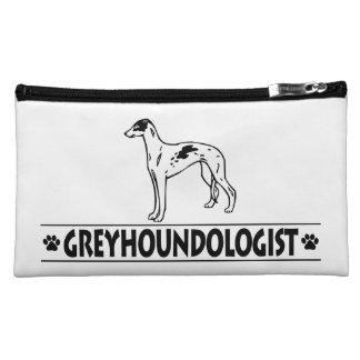 Humorous GREYHOUND DOGS Makeup Bag