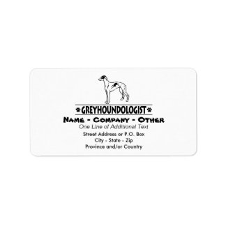 Humorous GREYHOUND DOGS Label