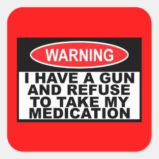Humorous gun warning sign stickers
