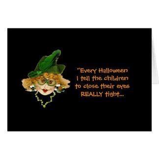 Humorous Halloween Lady card