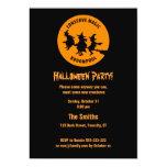 "Humorous Halloween Party 5"" X 7"" Invitation Card"