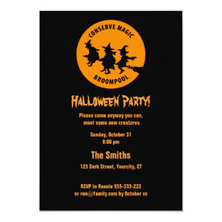 Humorous Halloween Party Card