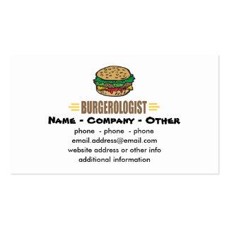 Humorous Hamburger Business Card