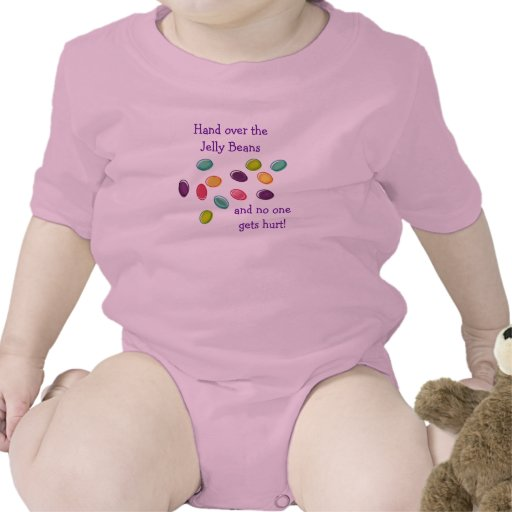 Humorous Hand Over Jelly Beans Infant Creeper