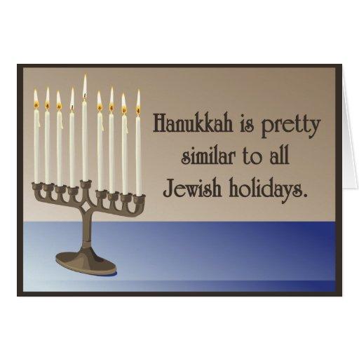 Humorous Hanukkah Greeting Card