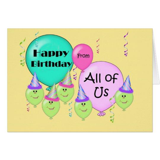 Balloons Card Design