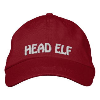 Humorous Head Elf Embroidered Christmas Cap