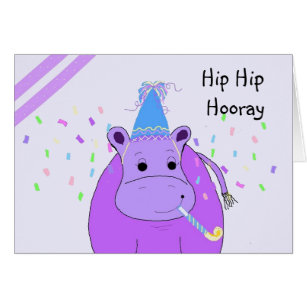 Funny hippo birthday cards greeting photo cards zazzle humorous hippo birthday card bookmarktalkfo Image collections