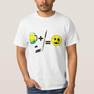 Humorous Hockey Fan Design Tee Shirt