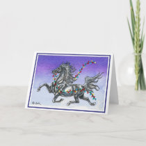 Humorous Horse Christmas Card