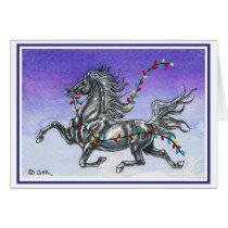 Humorous Horse Christmas Card