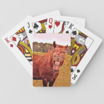 Humorous Horse Themed Playing Cards