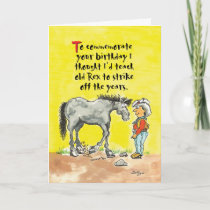 Humorous horsey birthday card