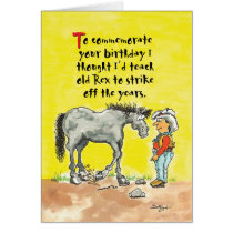Humorous horsey birthday card