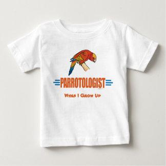 Humorous I Love Parrots Baby T-Shirt