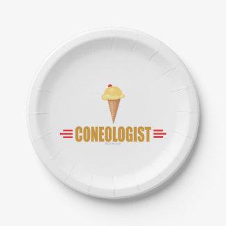 Humorous Ice Cream Lover's Paper Plate
