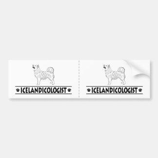 Humorous Icelandic Sheepdog Bumper Sticker