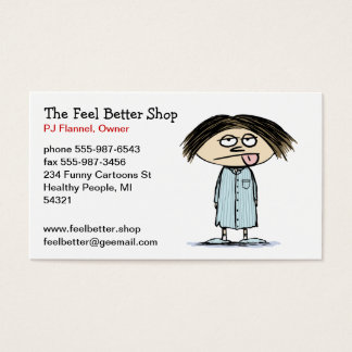 Humorous Illustration - Pajamas Cartoon Character Business Card