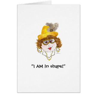 Humorous in shape Lady card