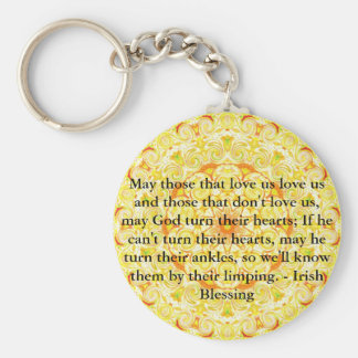 Humorous Irish Blessing from IRELAND Keychain