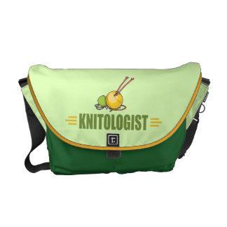 Humorous Knitting Courier Bag