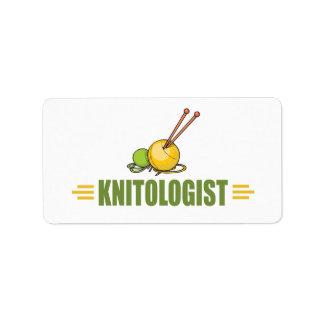 Humorous Knitting Label